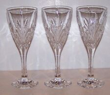 Lovely BOHEMIA Crystal CANTERBURY Set of 3 WINE GOBLETS 7 5/8""