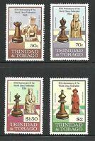 Album Treasures Trinidad & Tobago Scott # 408-411 Chess Federation MNH