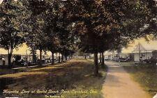 Cleveland Ohio~Euclid Beach Park~Magnolia Lane~Cottages~Tents~1908 Postcard