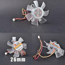 Graphics Card Cooling Fan YD125010EB DC12V 0.19A 45mm 3-pin 26mm Spare Parts New