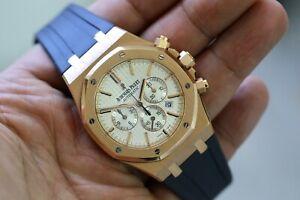 Audemars Piguet Royal Oak 41 Rose Gold White Dial Watch 26320orood088cr01 Chrono