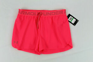Under Armour  Heat Gear Youth Girls Athletic Loose Shorts - Size Large Neon Pink