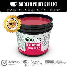 Ecotex Tex Red Hv High Viscosity Textile Screen Printing Emulsion 1gal 128oz