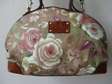 Patricia Nash Fiora Dome Crackled Rose Garden Leather Rounded Purse - Nwt