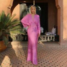 Zara Limited Edition Pink Satin Long Maxi Dress Size S, M