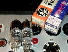 2 new 12BY7A / 12BV7 GE + Tung-Sol tubes NOS NIB USA for HAM-CB driver tube