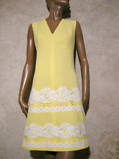 CHIC VINTAGE ROBE 1970 DENTELLE VTG DRESS LACE 70s KLEID 70er ABITO ANNI 70 (38)