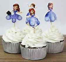 24 pcs cake toppers  Sofia the First Cupcake Cup decoration Disney Princess