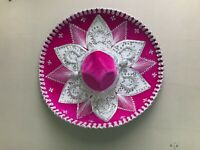 "MEXICAN MARIACHI HAT , CHARRO , SOMBRERO , COSTUME , 22"" ONE SIZE , HOT PINK"