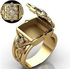 "Men's Louis XIV Square Vintage Ring NEW with a ""Secret Compartment"""