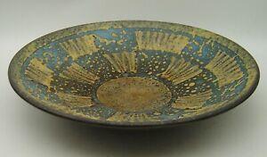 large mid century Carstens Ankara ? lava glaze pottery bowl