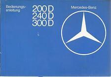 MERCEDES CLASSE E w123 Diesel Manuale di istruzioni 1979 manuale BA
