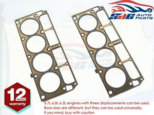 New Pair MLS Head Gaskets For Holden Chev V8 GM LS1 5.7L 1997 - 2006 12498544