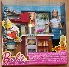 Barbie Spaghetti-Köchin mit Möbel Küche DMC36 NEU/OVP Puppe