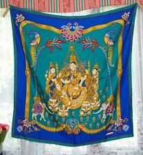 """RARE HERMES, France, """"Latham"""" Inde soie foulard. Parfait état."""