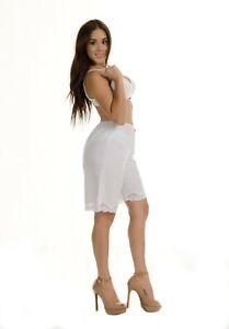 "Anti-Static Slip Pettipants 20"" Length White Beige Black Bloomer M L XL 2XL 2637"