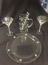 Alan Lee Collection Martini Set And Tray/Platter