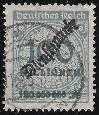 Deutsches Reich Dienstmarken Mi.Nr. 82 gestempelt geprüft Mi.Wert 200 € (7069)
