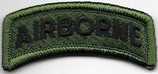 Woodland Black Green 101st Airborne Division Tab Patch w/ Hook Fastener
