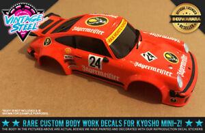 "Kyosho Mini-Z Porsche 934 ""JAGGERMEISTER"" Auto Scale Body RC Decal Stickers R/C"