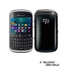 5 Pellicola per BlackBerry Curve 9320 Protettiva Pellicole SCHERMO DISPLAY LCD