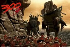 300 MOVIE POSTER ~ ELEPHANT BATTLE 24x36 Zach Snyder Spartans