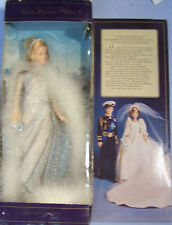 """1982 Princess Di Diana Of Wales 11.5"""" Doll Silver Formal Gown Goldberger"""
