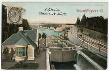 Canada postcard - 1907  -1/2 Cent black - Rideau Locks - Ottawa - Rare