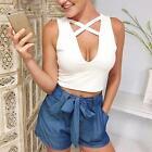 Women Sexy Tank Tops Bustier Bra Vest Crop Top Bralette Sleeveless Summer Blouse