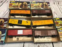 Athearn HO scale 50' Box Door (6) Assorted Vintage Freight Cars.