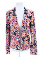 Under Skies Anthropologie Floral Print Tuxedo Shawl Jacket Blazer Womens Sz L