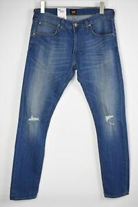Rrp Lee Luke Slim Fuseau Homme W36/L34 Stretch Délavé Jeans Vieilli 9093