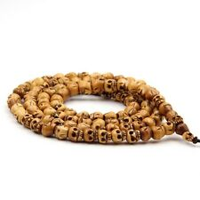 9mm Tibet Bone Skull Tibet Buddhist 108 Prayer Beads Mala Necklace