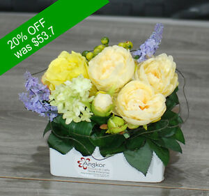 Artificial Flowers - Cute Yellow and Cream - for Home Decor or Gifting