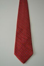 Brooks Brothers red silk necktie with repeating pattern