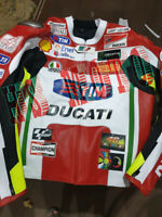 DUCATI TIM MOTORCYCLE MOTORBIKE LEATHER  RACING  MOTOGP JACKET