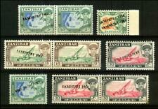 ZANZIBAR Assorted 1964 INDEPENDENCE (Jamhuri) OVERPRINT ERROR Collection Q-444