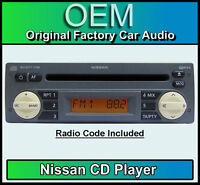 Nissan Micra K12 CD player, Nissan car stereo GREY with radio code, BRAND NEW!!