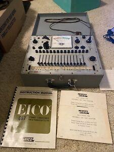 VINTAGE EICO 667 Tube & Transistor Tester, Manual & misc tube guides