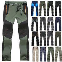 Men Casual Pants Tactical Waterproof Hiking Climbing Outdoor Soft Shell Trousers