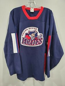 Pearl River NY Pirates  Game Worn High School James 7 Hockey Jersey Mens M