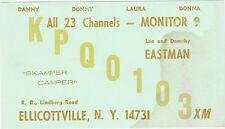RARE 1940s KPQ 0103 ELLICOTTVILLE  NY HAM CB RADIO CARD POSTCARD LEE EASTMAN WOW