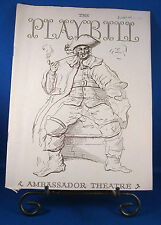 "Vintage Playbill ""THE STRAW HAT REVUE"" for The Ambassador Theatre Oct. 23, 1939"