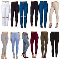 WOMENS HIGH WAISTED STRETCHY TUBE SLIM SKINNY JEANS LADIES JEGGINGS  6 to 24