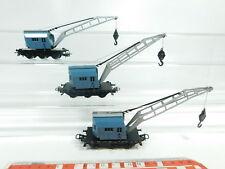 BG609-1# 3x Märklin/Primex H0/AC Camion grue Krupp-Ardelt DB: 6804 etc