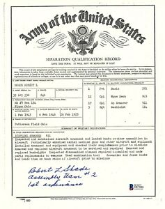 Robert Shade Signed Army Separation Document BAS D87886 WWII Manhattan Project
