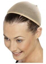 Costume beige nude skin tone wig cap hair cover stocking smiffys