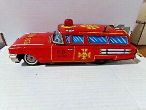 Yonezawa Toys Co. 1970s F.D Chief Tin Toy Car 072121DMT3