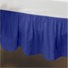 Tailored Ruffled Bed Skirt Solid Royal Blue 650 Tc Cotton _ Same Fabric Platform