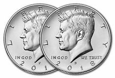 2018 P&D KENNEDY HALF DOLLAR SET TWO COINS in 2X2 flip